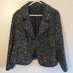 Rafaella black fully lined one button blazer sz 1x